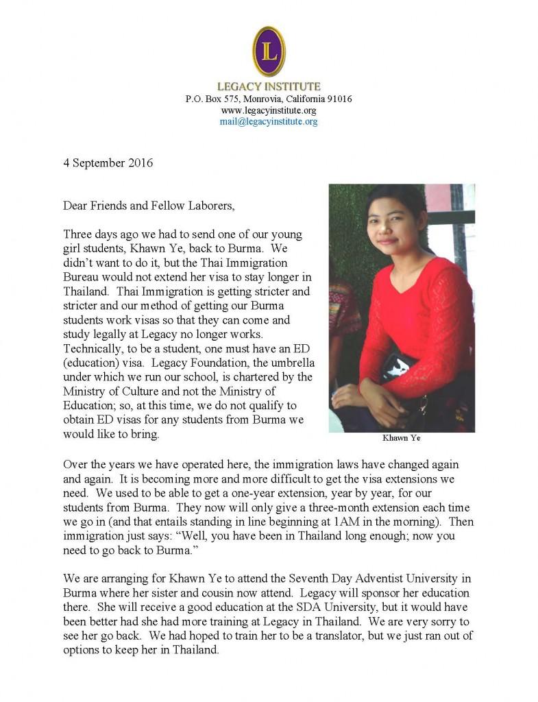 Legacy Letter September 2016