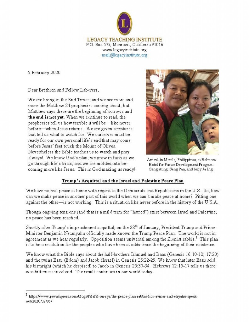 Legacy Letter February 2020 Page 1